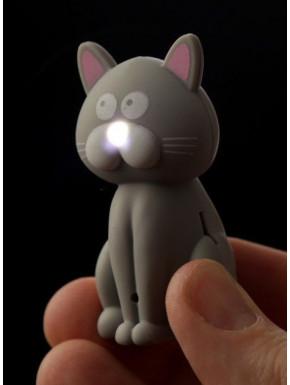 Llavero gato con luz y maullido