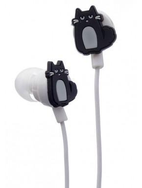 Auriculares con forma de gato