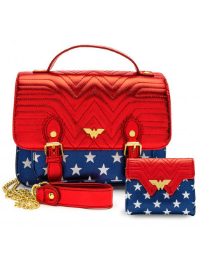 Pack Wonder Woman Loungefly Cartera y bolso