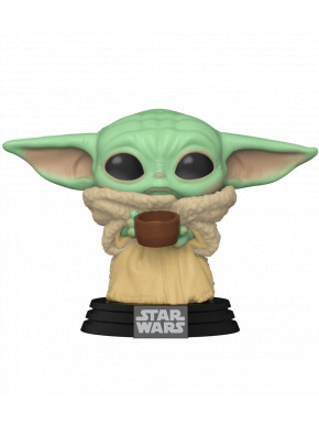 Funko Pop! Baby Yoda con taza The Child Mandalorian