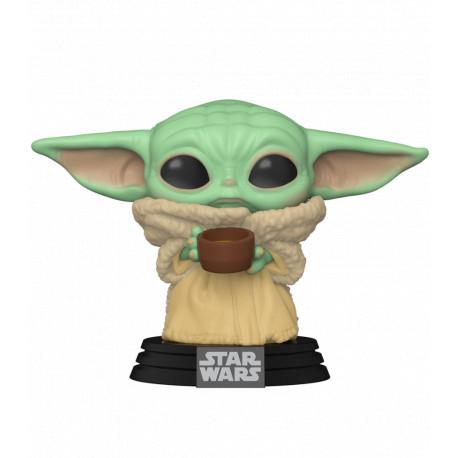 Funko Pop! Baby Yoda con taza The Child Mandalorian