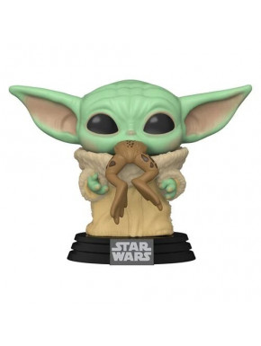 Funko Pop! Baby Yoda con rana The Child Mandalorian