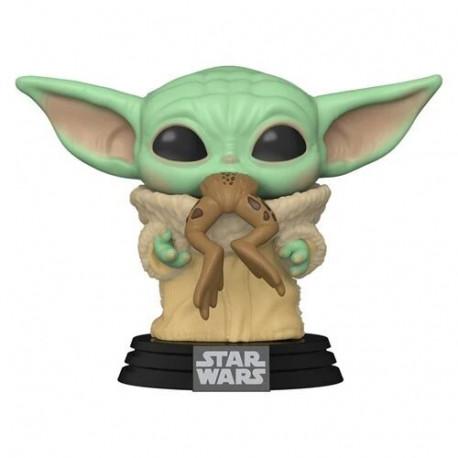 Funko Pop! Baby Yoda con rana The Child Mandalorian