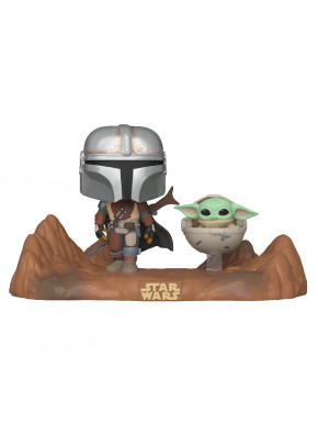 Funko Pop! Moments Mandalorian con Baby Yoda