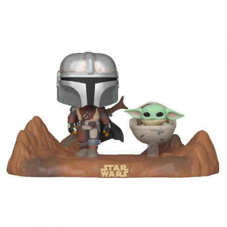 Funko Pop! Moments Mandalorian con Baby Yoda