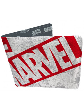 Cartera Marvel vintage cómic vinilo