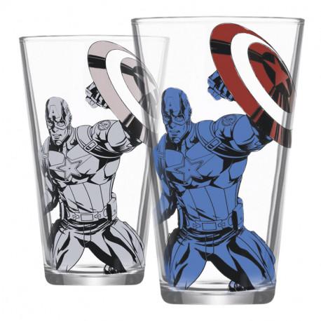 Vaso cambio color Marvel Capitán América