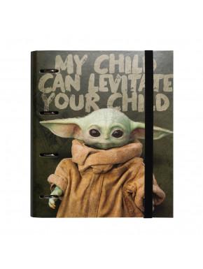 Carpeta anillas baby Yoda The Mandalorian