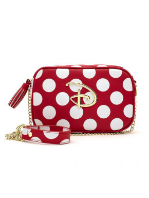 LF Red/Wht Polka Dot Disney Logo Cross Body Bag