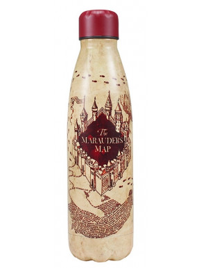 BOTELLA METALICA HARRY POTTER MAPA DE LOS MERODEADORES