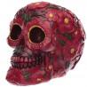 Figura Calavera - Calavera Día de los Muertos y Motivos Florales