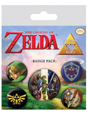 Pack chapas The Legend of Zelda Nintendo