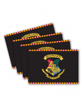 Set de 4 posavasos Hogwarts Harry Potter