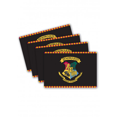 Set de 4 posavasos Hogwarts Harry Potter