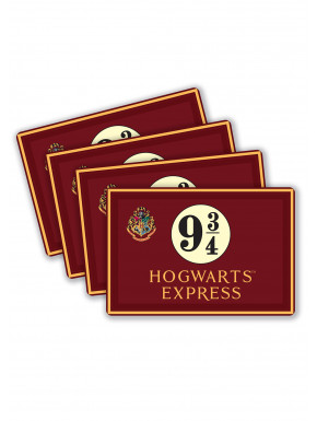 Set de 4 manteles individuales 9/4 Express Harry Potter