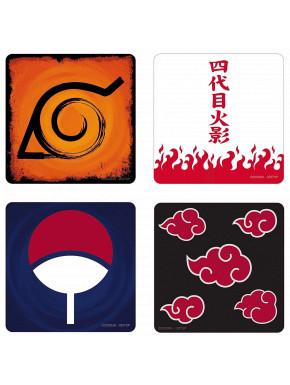 Set de 4 posavasos Naruto Shippuden
