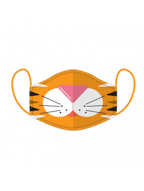 Mascarilla Protectora Reutilizable Tigre Adorable - Grande
