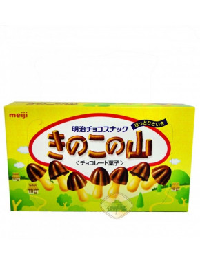 Galletas de chocolate en forma de seta Meiji