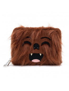 Cartera Loungefly Star Wars LF STAR WARS FAUX FUR CHEWBACCA ZIP AROUND WALLET
