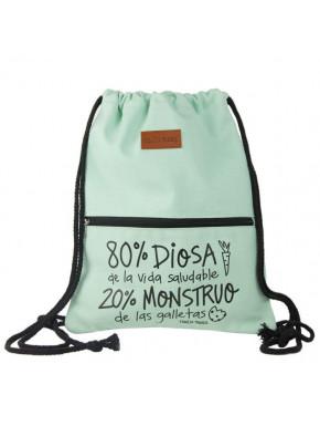 Bolsa mochila cuerda Pedrita Parker Diosa y Monstruo