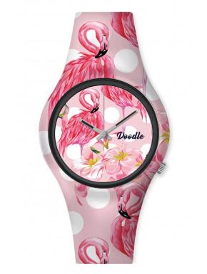 Reloj Pink Flamingo Doodle