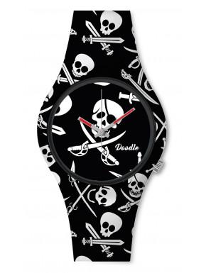Reloj Black Pirates Skull Doodle