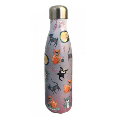 LOT 6 BOUTEILLES THERMOS CAT HOUSE