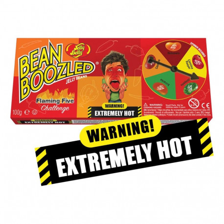 JELLY BELLY BEANBOOZLED JUEGO FLAMING FIVE CARAMELOS PICANTES