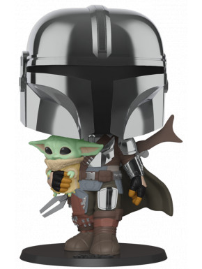 Funko Pop! The Mandalorian con Baby Yoda 25 cm