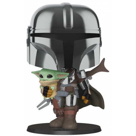 Funko Pop! The Mandalorian con Baby Yoda 25 cm