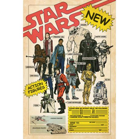 Poster Star Wars Action Figures 40 Aniversario