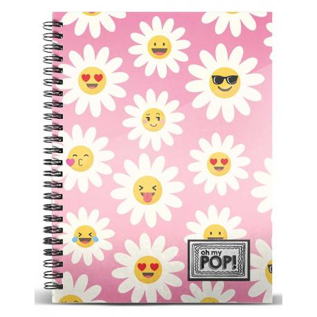 OHMYPOP Cuaderno A5 Happy Flower