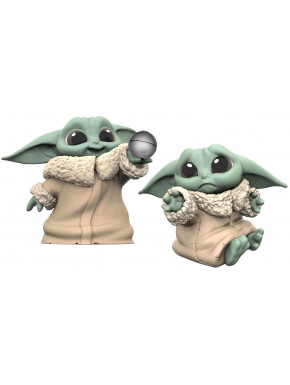 Pack 2 Figuras Baby Yoda Bounty Collection Mandalorian Bola + Triste