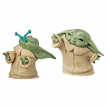 Pack 2 Figuras Baby Yoda Bounty Collection Mandalorian Rana + Fuerza