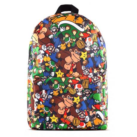 Mochila Super Mario Nintendo characters