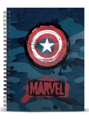 Libreta Escudo Capitán América A5