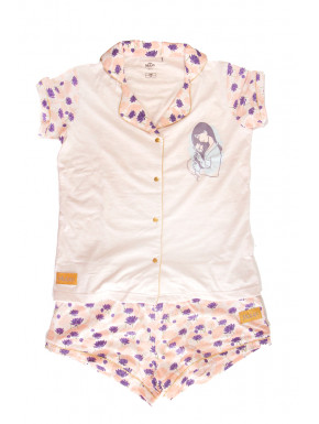 PIJAMA CORTO SINGLE JERSEY PRINCESS MULAN