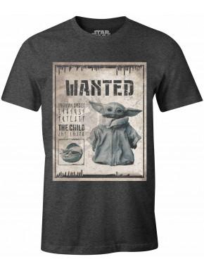 Camiseta Baby Yoda Wanted Mandalorian