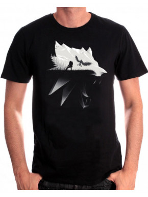 Camiseta The Witcher wolf