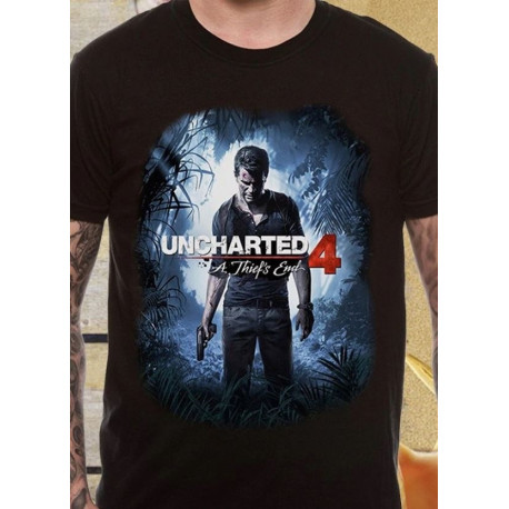 Camiseta Uncharted 4 Cover