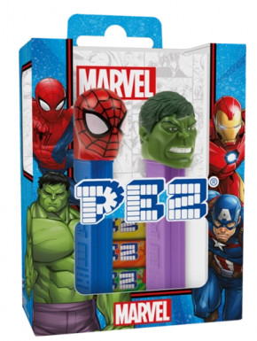 Caramelos PEZ Spiderman y Hulk Marvel