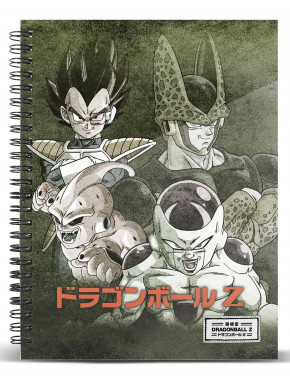 DRAGON BALL Cuaderno A5 Evil