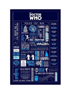 Poster Dr Who Infographic 60 x 90 cm
