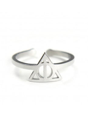 Anillo Acero Harry Potter Reliquias