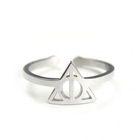 Anillo Acero Harry Potter Reliquias