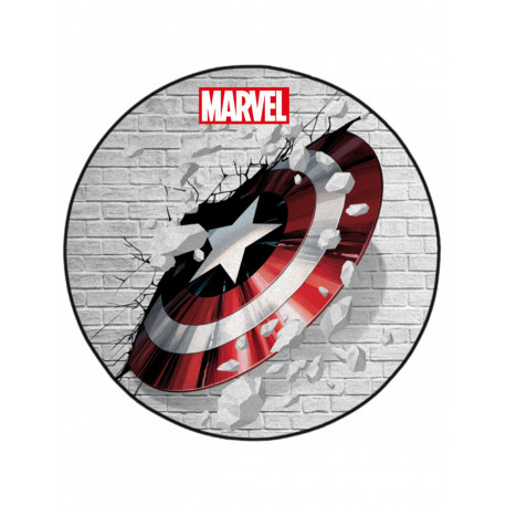 Marvel Alfombra Captain America Shield 80 cm