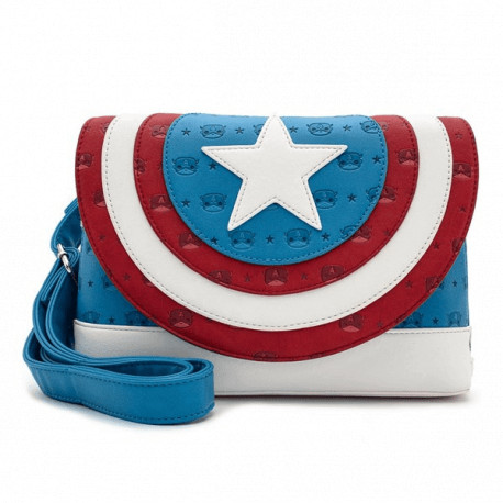 Bolso Bandolera Capitán América Loungefly Marvel