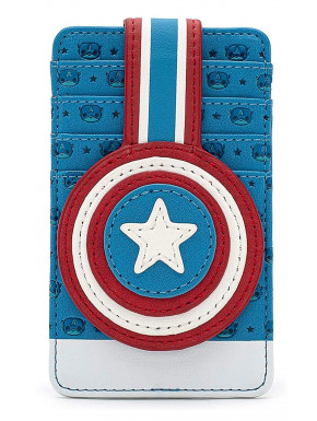 Cartera Tarjetero Loungefly Capitán América Marvel