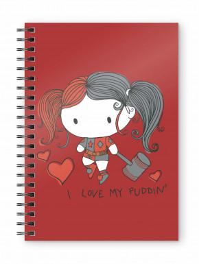 Libreta Cuaderno Harley Quinn Chibi