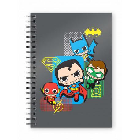 Libreta Cuaderno Liga de la Justicia  Chibi